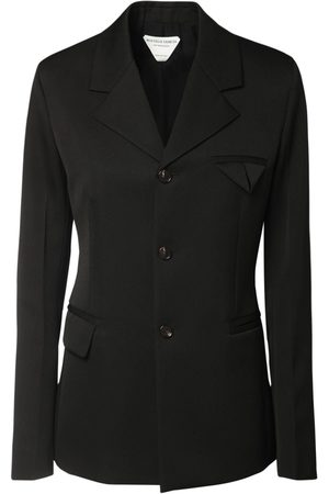 Bottega Veneta Grain De Poudre Single Breast Blazer