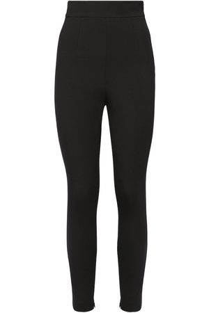 Dolce & Gabbana High Waist Stretch Wool Canvas Leggings