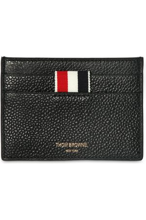 Thom Browne Men Wallets - Pebbled Leather Card Holder