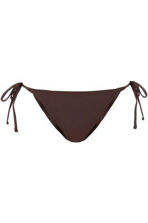 Fisch Women Bikinis - Chanzy Side-tie Recycled-fibre Bikini Briefs - Womens - Dark