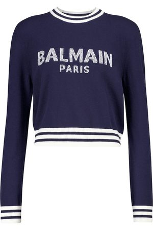 Balmain Logo wool and cashmere-blend sweater