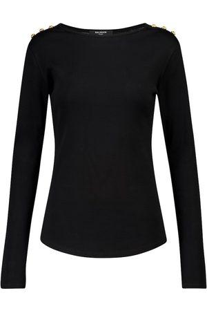 Balmain Cotton jersey top