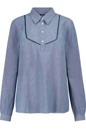A.P.C. Amanda cotton chambray blouse