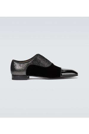 Christian Louboutin Greggo Orlato velvet derby shoes