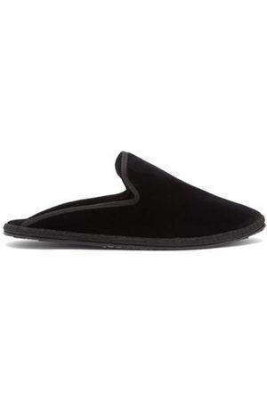 VIBI VENEZIA Sabot Backless Velvet Furlane Slippers - Womens