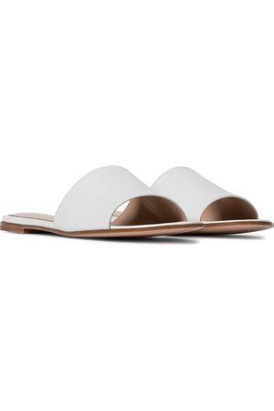 Gianvito Rossi Capri leather slides