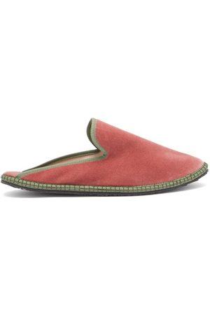 Vibi Venezia Backless Velvet Furlane Slippers - Womens - Multi