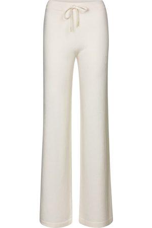 Salvatore Ferragamo Wide-leg cashmere trackpants