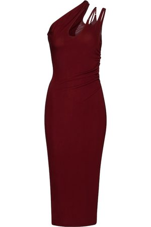 MUGLER One-shoulder jersey bodycon dress