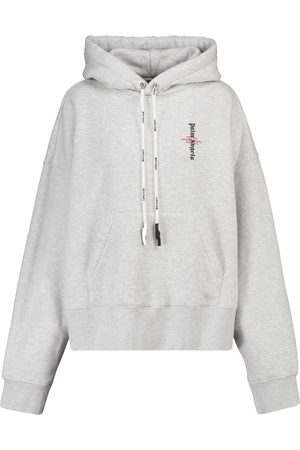 Palm Angels Logo cotton jersey hoodie