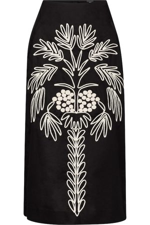 JOHANNA ORTIZ Cave Explorer embroidered midi skirt