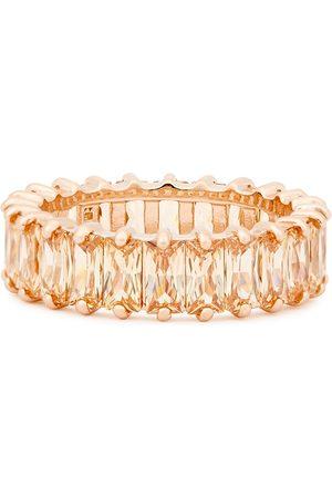 Rosie Fortescue Crystal-embellished 18kt rose gold-plated ring