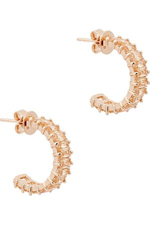 Rosie Fortescue 18kt rose gold-plated hoop earrings