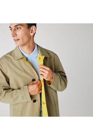Lacoste Men Coats - Men's Lightweight Water-resistant Reversible Twill Coat : /
