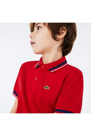 Lacoste Boys' Contrast Detail Cotton Piqué Polo : /