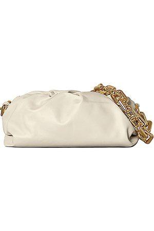 Bottega Veneta The Chain Pouch Bag in White