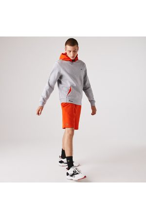 Lacoste Men's Sport Hooded Contrast Fleece Sweatshirt : /