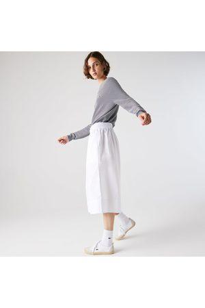 Lacoste Women's Light Cotton Poplin Culottes :