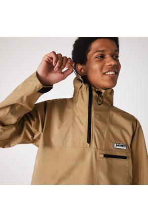 Lacoste Men's Water-resistant Hooded Windbreaker :