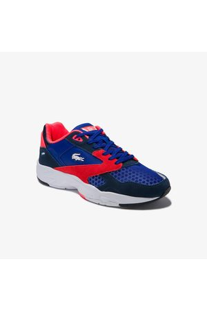 Lacoste Men's Storm 96 Lo Textile, Synthetic And Suede Trainers : /