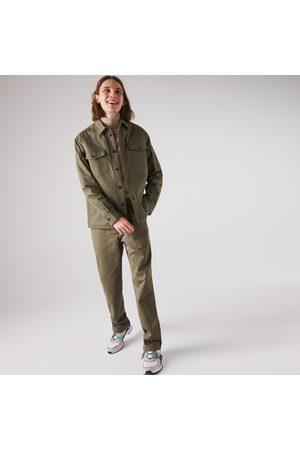 Lacoste Men's Chevron Textured Cotton Cargo Pants :