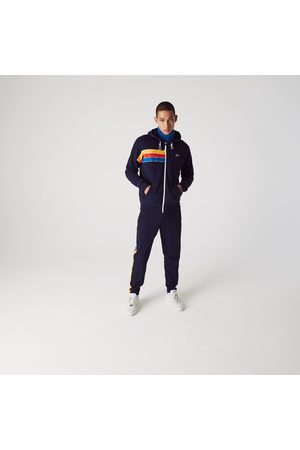 Lacoste Men's Sport Hooded Colorblock Fleece Zip Sweatshirt : / / / /