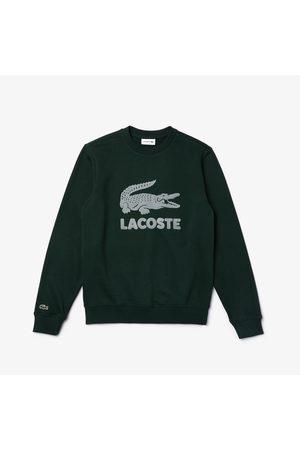 Lacoste Men's Printed Logo Fleece Crew Neck Sweatshirt :