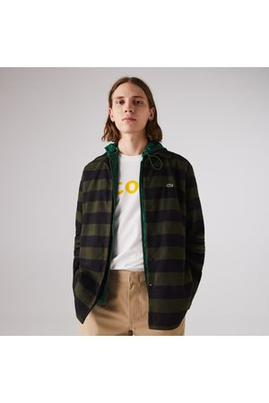 Lacoste Men's Checked Quilted Cotton Flannel Overshirt : /