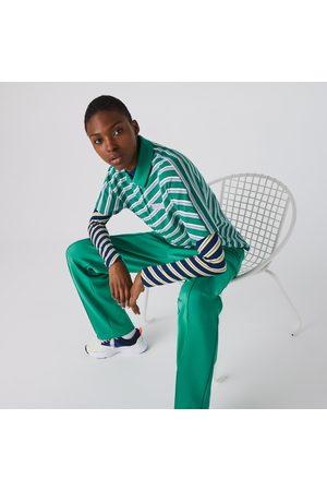 Lacoste Women's Live Loose Fit Badge Striped Cotton Piqué Polo Shirt : /
