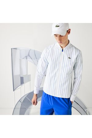 Lacoste Men's Sport X Novak Djokovic Striped Bomber Jacket : /
