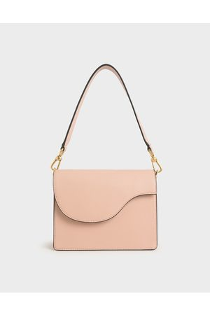 CHARLES & KEITH Angular Flap Shoulder Bag