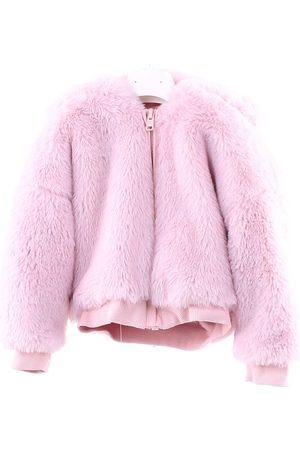 MONNALISA Fur coats Rose polyester