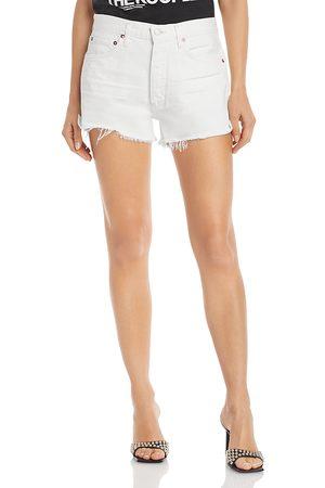 AGOLDE Parker Denim Shorts in Tissue