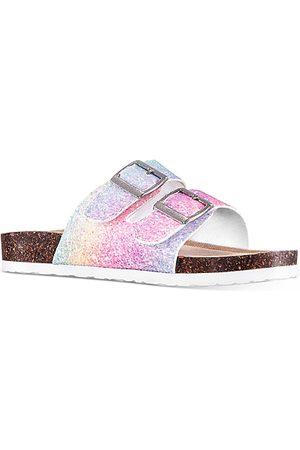 NINA Girls' Laurette Sparkle Slide Sandals - Toddler, Little Kid, Big Kid