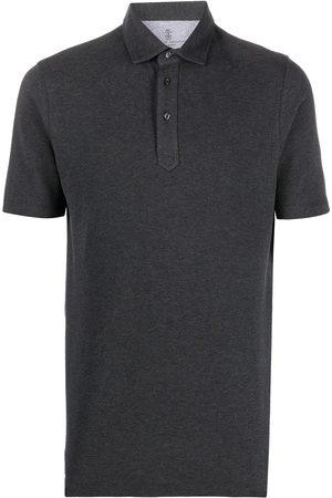 Brunello Cucinelli Short-sleeve polo shirt - Grey