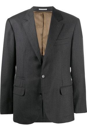 Brunello Cucinelli Single-breasted virgin wool blazer - Grey