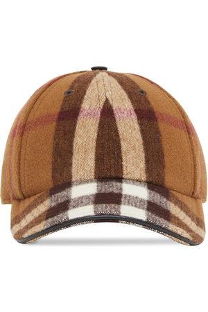 Burberry Men Caps - Check-print baseball cap
