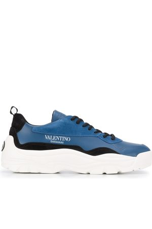 VALENTINO GARAVANI Panelled lace-up sneakers