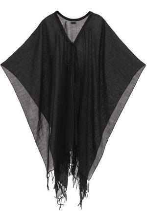 Saint Laurent Tasselled-cord Wool-gauze Poncho - Womens