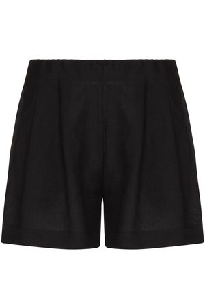 ASCENO Organic linen elasticated shorts