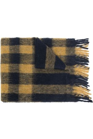 MULBERRY Checked fringed scarf
