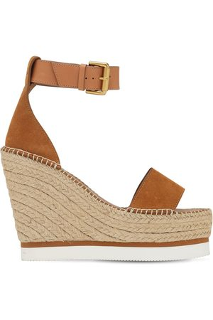 See by Chloé 120mm Glyn Suede Wedges