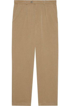 Gucci High-waist tailored trousers - Neutrals