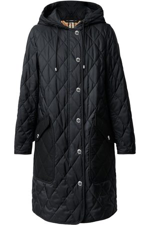 Burberry Diamond-quilted mid-length coat