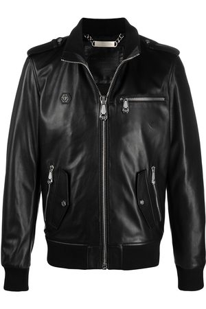 Philipp Plein Zip-up Iconic leather jacket