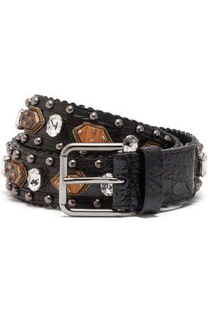 Dolce & Gabbana Embellished buckle-fastening belt