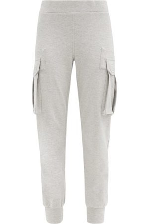 Norma Kamali Cargo-pocket Cotton-blend Jersey Track Pants - Womens - Light Grey
