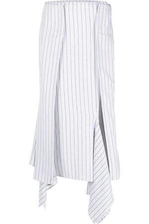 MM6 MAISON MARGIELA Asymmetric striped skirt
