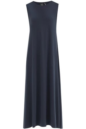 Norma Kamali Women Casual Dresses - Round-neck Jersey Dress - Womens - Dark