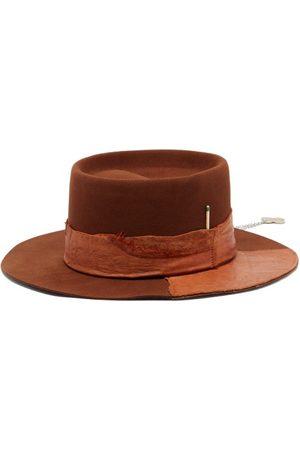 NICK FOUQUET Peniche Felt And Leather Fedora Hat - Mens
